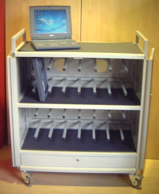 Security trolley for school and education